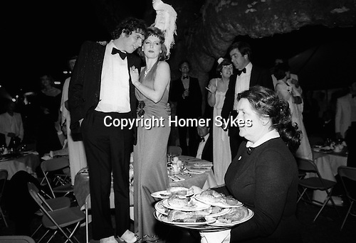 Waitress at the Berkley Square Ball. London 1981.