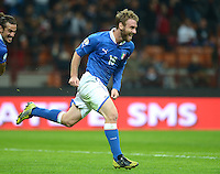 Fussball International  WM Qualifikation 2014   Italien - Daenemark                16.10.2012 Jubel Daniele De Rossi (Italien)