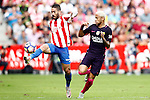 Sporting de Gijon's Lillo (l) and FC Barcelona's Neymar Santos Jr during La Liga match. September 24,2016. (ALTERPHOTOS/Acero)