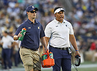 Annapolis, MD - October 7, 2017: Navy Midshipmen head coach Ken Niumatalolo during the game between Air Force and Navy at  Navy-Marine Corps Memorial Stadium in Annapolis, MD.   (Photo by Elliott Brown/Media Images International)