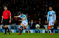 Blackburn Rovers' Craig Conway shoots at goal from a freekick<br /> <br /> Photographer Alex Dodd/CameraSport<br /> <br /> Emirates FA Cup Third Round Replay - Blackburn Rovers v Newcastle United - Tuesday 15th January 2019 - Ewood Park - Blackburn<br />  <br /> World Copyright &copy; 2019 CameraSport. All rights reserved. 43 Linden Ave. Countesthorpe. Leicester. England. LE8 5PG - Tel: +44 (0) 116 277 4147 - admin@camerasport.com - www.camerasport.com