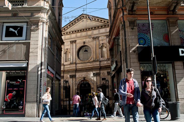 Milano, via Torino.<br /> Chiesa di Santa Maria presso San Satiro.<br /> Milan, Santa Maria church.