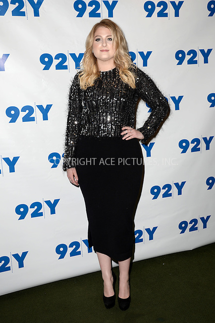 WWW.ACEPIXS.COM<br /> February 2, 2016 New York City<br /> <br /> Meghan Trainor attends the L. A. Reid in conversation with Gayle King and special guest Meghan Trainor event at 92Y on February 2, 2016 in New York City.<br /> <br /> Credit: Kristin Callahan/ACE Pictures<br /> Tel: (646) 769 0430<br /> e-mail: info@acepixs.com<br /> web: http://www.acepixs.com
