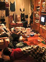 fecha: invierno 2004 Piso de estudiantes en Madrid. Foto:pedro agrelo