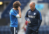 Preston North End's Manager Alex Neil talks to Preston North End's Ben Pearson<br /> <br /> Photographer Mick Walker/CameraSport<br /> <br /> Football Pre-Season Friendly - Preston North End  v Burnley FC  - Monday 23st July 2018 - Deepdale  - Preston<br /> <br /> World Copyright &copy; 2018 CameraSport. All rights reserved. 43 Linden Ave. Countesthorpe. Leicester. England. LE8 5PG - Tel: +44 (0) 116 277 4147 - admin@camerasport.com - www.camerasport.com
