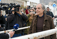 Dimitris Koufodinas exits Korydallos Maximum Security prison
