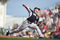 New York Yankees pitcher Nick Rumbelow (90) during a Spring Training game against the Pittsburgh Pirates on March 5, 2015 at McKechnie Field in Bradenton, Florida.  New York defeated Pittsburgh 2-1.  (Mike Janes/Four Seam Images)