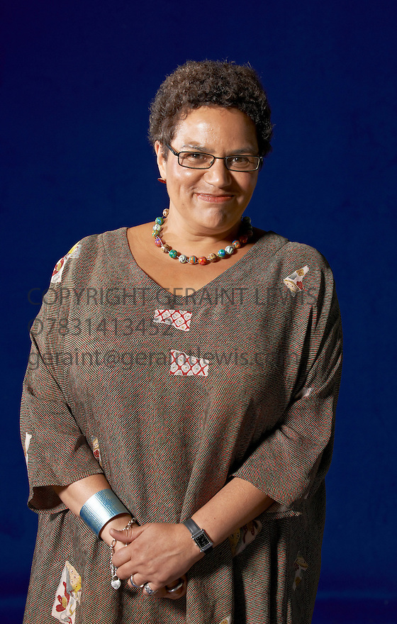 Jackie Kay  writer of Red Dust Road  at The Edinburgh International Book Festival   . Credit Geraint Lewis