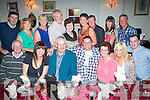 HOME SWEET HOME: Johnny Roche, originally Ballyheigue (seated centre) who is home from Chicago, USA, dined in Cassidy's,Tralee last Friday night with family. Seated l-r: Patrick Higgins, Laura,Thomás, Johnny, Margaret and Marylin Roche with John Stack. Back l-r: Pa Joe McQuinn, Shelia Higgins, Mary McQuinn, Michael and Liz McCarthy with Mary and Sean Higgins,Teresa Stack and Mike Mahony..