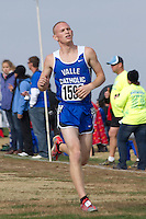 Nicholas Klein runs to a 17th place finish in helping Valle Catholic to a 4th place finish in Class 1 at the State Cross Country Championships in Jefferson City, Saturday, November 3.