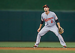 25 August 2016: Baltimore Orioles infielder J.J. Hardy in action against the Washington Nationals at Nationals Park in Washington, DC. The Nationals blanked the Orioles 4-0 to salvage one game of their 4-game home and away series. Mandatory Credit: Ed Wolfstein Photo *** RAW (NEF) Image File Available ***