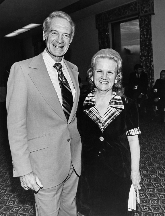 Rep. Gillespie V. Montgomery, D-Miss. with wife in 1985. (Photo by Dev O'Neill/CQ Roll Call)