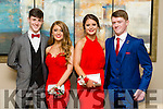 Mike Hoare, Kelly Tobin, Sarah Fitzgerald, Chris Lowe at the CBS The Green Students' Debs Ball at Ballyroe Heights Hotel on Thursday night