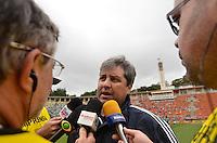 ATENÇÃO EDITOR: FOTO EMBARGADA PARA VEÍCULOS INTERNACIONAIS - SÃO PAULO, SP, 25 DE NOVEMBRO DE 2012 - CAMPEONATO BRASILEIRO - PALMEIRAS x ATLETICO GOIANIENSE: Tecnico Gilson Kleina durante partida Palmeiras x Atletico Goianiense, válida pela 37ª rodada do Campeonato Brasileiro no Estádio do Pacaembú. FOTO: LEVI BIANCO - BRAZIL PHOTO PRESS