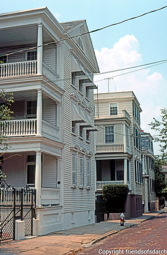 Charleston: Row of Houses.  Photo '78.