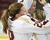 Kate Leary (BC - 28) - The Boston College Eagles celebrate winning the 2014 Beanpot championship on Tuesday, February 11, 2014, at Kelley Rink in Conte Forum in Chestnut Hill, Massachusetts.