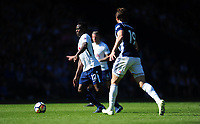 Tottenham Hotspur's Victor Wanyama vies for possession with West Bromwich Albion's Jay Rodriguez<br /> <br /> Photographer Ashley Crowden/CameraSport<br /> <br /> The Premier League - West Bromwich Albion v Tottenham Hotspur - Saturday 5th May 2018 - The Hawthorns - West Bromwich<br /> <br /> World Copyright &copy; 2018 CameraSport. All rights reserved. 43 Linden Ave. Countesthorpe. Leicester. England. LE8 5PG - Tel: +44 (0) 116 277 4147 - admin@camerasport.com - www.camerasport.com