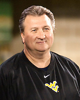 WVU basketball coach Bob Huggins. The West Virginia Mountaineers defeated the South Florida Bulls 20-6 on October 14, 2010 at Mountaineer Field, Morgantown, West Virginia.
