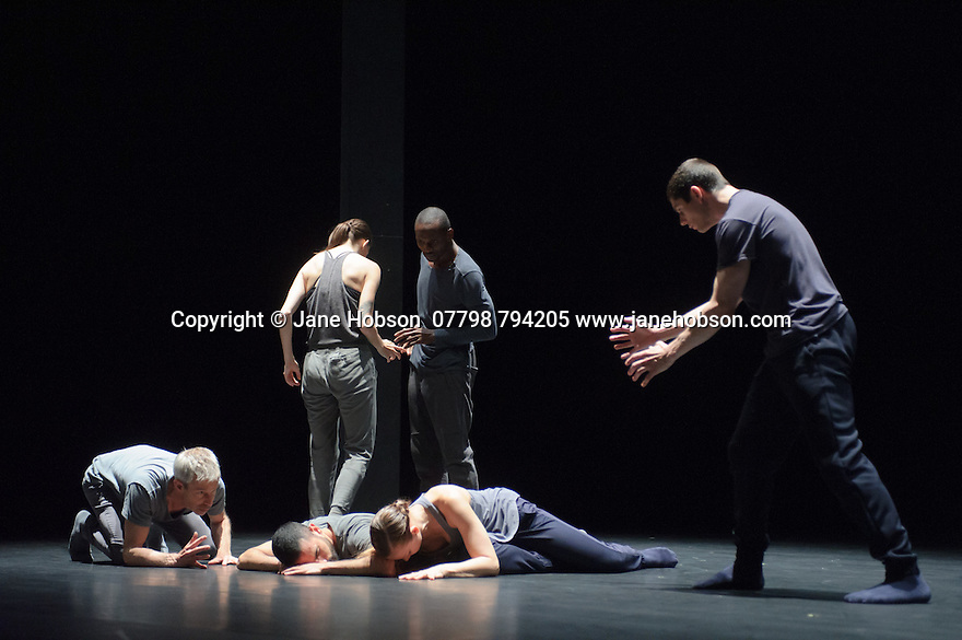 KiddPivot/Electric Company theatre presents BETROFFENHEIT, at Sadler's Wells. the dancers are: Bryan Arias, David Raymond, Cindy Salgado, Jermaine Spivey, Tiffany Tregarthen, Jonathon Young.