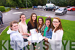 Students from Brookfield College pictured after receiving their Leaving Cert results on Wednesday were, from left: Eva Phelan (Fenit), Aoife Cahill (Oakpark), Catherina Moriarty (Oakpark), Kelly Field (Tralee) and Megan Bambury (Listowel) and Niamh Hurley (Tralee).