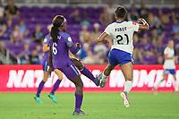 Orlando, FL - Saturday September 02, 2017: Chioma Ubogagu, Margaret Purce during a regular season National Women's Soccer League (NWSL) match between the Orlando Pride and the Boston Breakers at Orlando City Stadium.