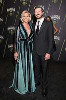 LAS VEGAS, NV - NOVEMBER 30: Shery Pollex and Martin Truex Jr. arriving to the 2017 NASCAR Sprint Cup Awards at The Wynn Hotel & Casino in Las Vegas, Nevada on November 30, 2017. Credit: Damairs Carter/MediaPunch /NortePhoto NORTEPHOTOMEXICO