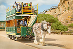 Victor Harbor, Granite Island, South Australia, Horse drawn tram.