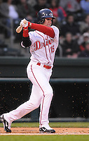 April 13, 2009: Outfielder David Mailman (15) of the Greenville Drive on the team's 2009 home opener against the Hickory Crawdads at Fluor Field at the West End in Greenville, S.C. Photo by: Tom Priddy/Four Seam Images