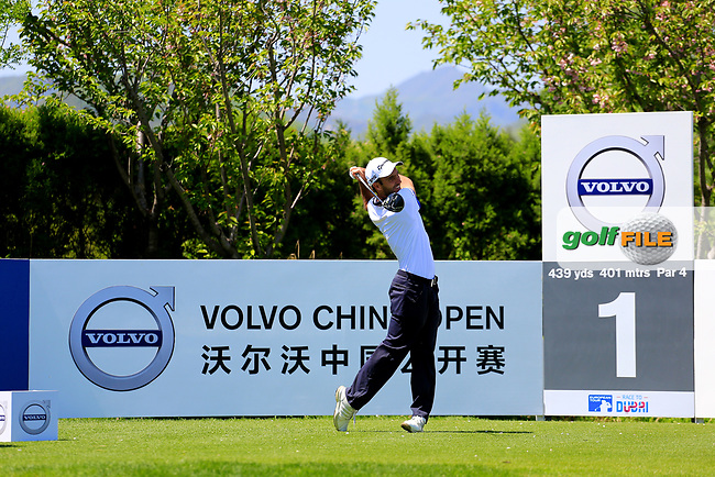 Edoardo Molinari (ITA) in action during the first round of the Volvo China Open played at Topwin Golf &amp; Country Club, Beijing, China 27-30 April 2017.<br /> 27/04/2017.<br /> Picture: Golffile | Phil Inglis<br /> <br /> <br /> All photo usage must carry mandatory copyright credit (&copy; Golffile | Phil Inglis)