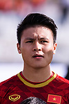 Nguyen Quang Hai of Vietnam prior to the AFC Asian Cup UAE 2019 Group D match between Vietnam (VIE) and I.R. Iran (IRN) at Al Nahyan Stadium on 12 January 2019 in Abu Dhabi, United Arab Emirates. Photo by Marcio Rodrigo Machado / Power Sport Images