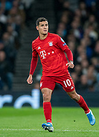 Philippe Coutinho (on loan from Barcelona) of Bayern Munich during the UEFA Champions League group match between Tottenham Hotspur and Bayern Munich at Wembley Stadium, London, England on 1 October 2019. Photo by Andy Rowland.