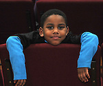 Zha' Quel John, 4, who was among those attending a Community Policing Forum, sponsored by the Kingston Branch of ENJAN and the Ministers Alliance of Ulster Co., held at New Progressive Baptist Church, on Hone Street in Kingston, NY, on Tuesday, December 13, 2016. Photo by Jim Peppler; Copyright Jim Peppler 2016.