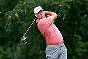 28th May 2017, Fort Worth, Texas, USA; Stewart Cink hits his tee shot on #6 during the final round of the PGA Dean & Deluca Invitational at Colonial Country Club in Fort Worth, TX.