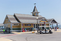 The Steamship Authority ticket office serving the Oak Bluffs ferry terminal in Oak Bluffs, Massachusetts on Martha's Vineyard.