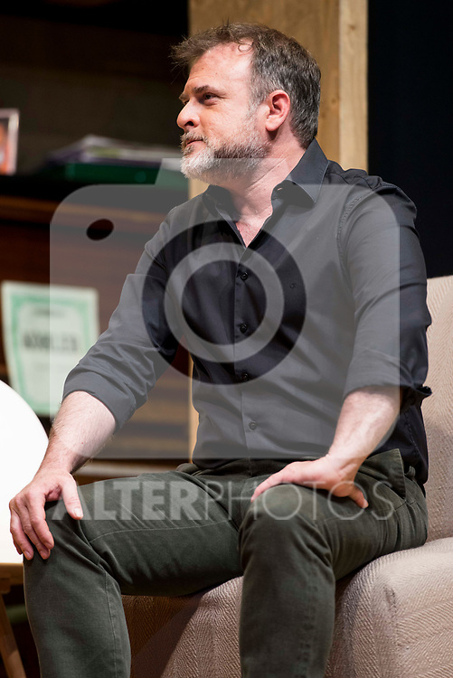 Xavi Mira during theater play of &quot;Los vecinos de arriba&quot; at Teatro Circulo de Bellas Artes in Madrid, April 25, 2017. Spain.<br /> (ALTERPHOTOS/BorjaB.Hojas)