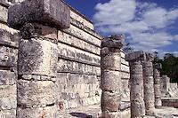 Zona arqueologica de Chichen Itza Zona arqueol&oacute;gica  <br /> Chich&eacute;n Itz&aacute;Chich&eacute;n Itz&aacute; maya: (Chich&eacute;n) Boca del pozo; <br /> de los (Itz&aacute;) brujos de agua. <br /> Es uno de los principales sitios arqueol&oacute;gicos de la <br /> pen&iacute;nsula de Yucat&aacute;n, en M&eacute;xico, ubicado en el municipio de Tinum.<br /> *Photo:*&copy;Francisco* Morales/DAMMPHOTO.COM/NORTEPHOTO