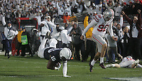 State College, PA - 10/22/2016:  Grant Haley stumbles into the end zone for a touchdown after recovering a blocked punt to give Penn State the lead late in the fourth quarter. Penn State upset #2 Ohio State by a score of 24-21 on Saturday, October 22, 2016, at Beaver Stadium in University Park, PA.<br /> <br /> Photos by Joe Rokita / JoeRokita.com