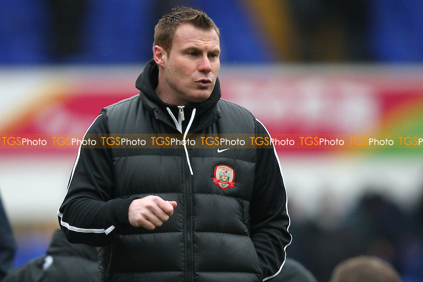 Barnsley manager David Flitcroft - Ipswich Town vs Barnsley - NPower Championship Football at Portman Road, Ipswich, Suffolk - 19/01/13 - MANDATORY CREDIT: Gavin Ellis/TGSPHOTO - Self billing applies where appropriate - 0845 094 6026 - contact@tgsphoto.co.uk - NO UNPAID USE.
