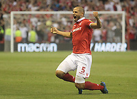 Nottingham Forest's Adl&egrave;ne Gu&eacute;dioura celebrates scoring his sides first goal <br /> <br /> Photographer Mick Walker/CameraSport<br /> <br /> The EFL Sky Bet Championship - Nottingham Forest v West Bromwich Albion - Tuesday August 7th 2018 - The City Ground - Nottingham<br /> <br /> World Copyright &copy; 2018 CameraSport. All rights reserved. 43 Linden Ave. Countesthorpe. Leicester. England. LE8 5PG - Tel: +44 (0) 116 277 4147 - admin@camerasport.com - www.camerasport.com