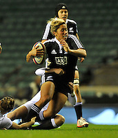 Rugby Union. Twickenham, England. Casey Robertson of New Zealand Black Ferns during the QBE international match between England and New Zealand Black Ferns at Twickenham Stadium on December 01, 2012 in Twickenham, England.