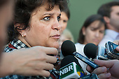 Brazilian Environment Minister Isabel Teixera speaks to the press. The People's Summit at the United Nations Conference on Sustainable Development (Rio+20), Rio de Janeiro, Brazil, 16th June 2012. Photo © Sue Cunningham.