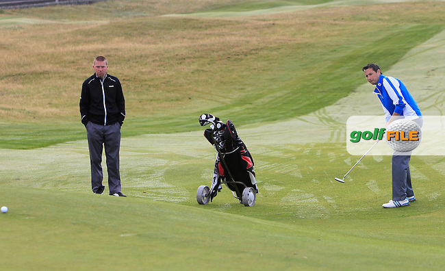 Karl Purcell (Dun Laoghaire) on the 1st during Matchplay Round 1 of the South of Ireland Amateur Open Championship at LaHinch Golf Club on Friday 24th July 2015.<br /> Picture:  Golffile | Thos Caffrey