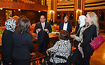 Egyptian President Abdel-Fattah al-Sisi meets with Members of the National Council for Women, in Cairo, capital of Egypt, March 28, 2016. Photo by Egyptian President Office