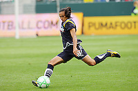 Marta #10 of the Los Angeles Sol takes a shot against the Washington Freedom during their inaugural match at Home Depot Center on March 29, 2009 in Carson, California.