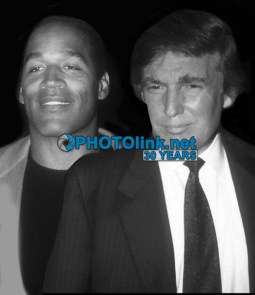OJ Simpson Donald Trump 1993<br /> Photo By John Barrett/PHOTOlink