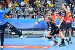 Kristianstads Arnarsson Arnar Freyr beim Wurf auf das Tor von Rhein Neckar Loewe Andreas Palicka (Nr.12) rechts im Bild Rhein Neckar Loewe Jesper Nielsen (Nr.36) und Rhein Neckar Loewe Filip Taleski (Nr.28)  beim Spiel in der Champions League, Rhein Neckar Loewen - IFK Kristianstad.<br /> <br /> Foto &copy; PIX-Sportfotos *** Foto ist honorarpflichtig! *** Auf Anfrage in hoeherer Qualitaet/Aufloesung. Belegexemplar erbeten. Veroeffentlichung ausschliesslich fuer journalistisch-publizistische Zwecke. For editorial use only.