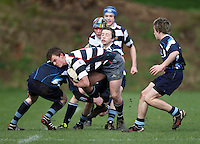 Saturday 3rd March 2012; Ben Pentland in action during the Medallion Shield semi-final between Wallace High School and Dromore High School at Osborne Park, Belfast. <br /> Picture credit: John Dickson / DICKSONDIGITAL