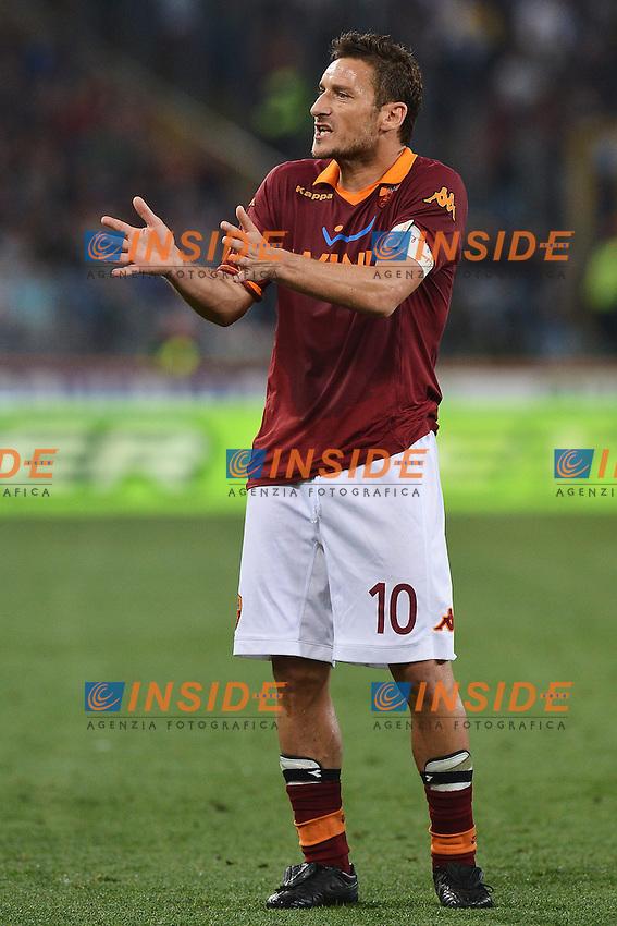 Francesco Totti Roma .Roma 08/05/2013 Stadio Olimpico.Football Calcio 2012/2013 Serie A.Roma Vs Chievo 0-1.Foto Andrea Staccioli Insidefoto