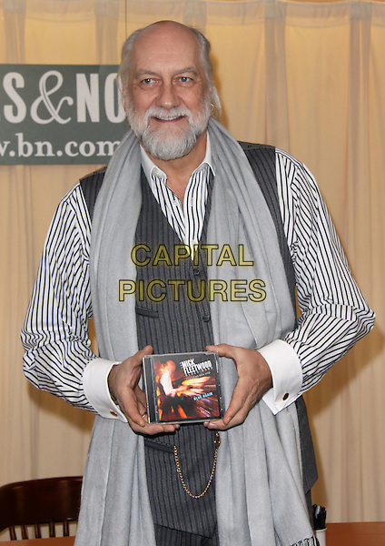"MICK FLEETWOOD.In-store appearance by Mick Fleetwood of Fleetwood Mac to celebrate the release of ""Blue Again"" held at Barnes & Noble, New York, NY, USA, .20th March 2009..half length beard facial hair grey gray waistcoat pinstripe white striped shirt CD signing scarf.CAP/ADM/PZ.©Paul Zimmerman/Admedia/Capital Pictures"
