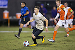 Brad Dunwell (12) of the Wake Forest Demon Deacons controls the ball during first half action against the Clemson Tigers at Spry Soccer Stadium on November 8, 2017 in Winston-Salem, North Carolina.  The Demon Deacons defeated the Tigers 2-1.  (Brian Westerholt/Sports On Film)